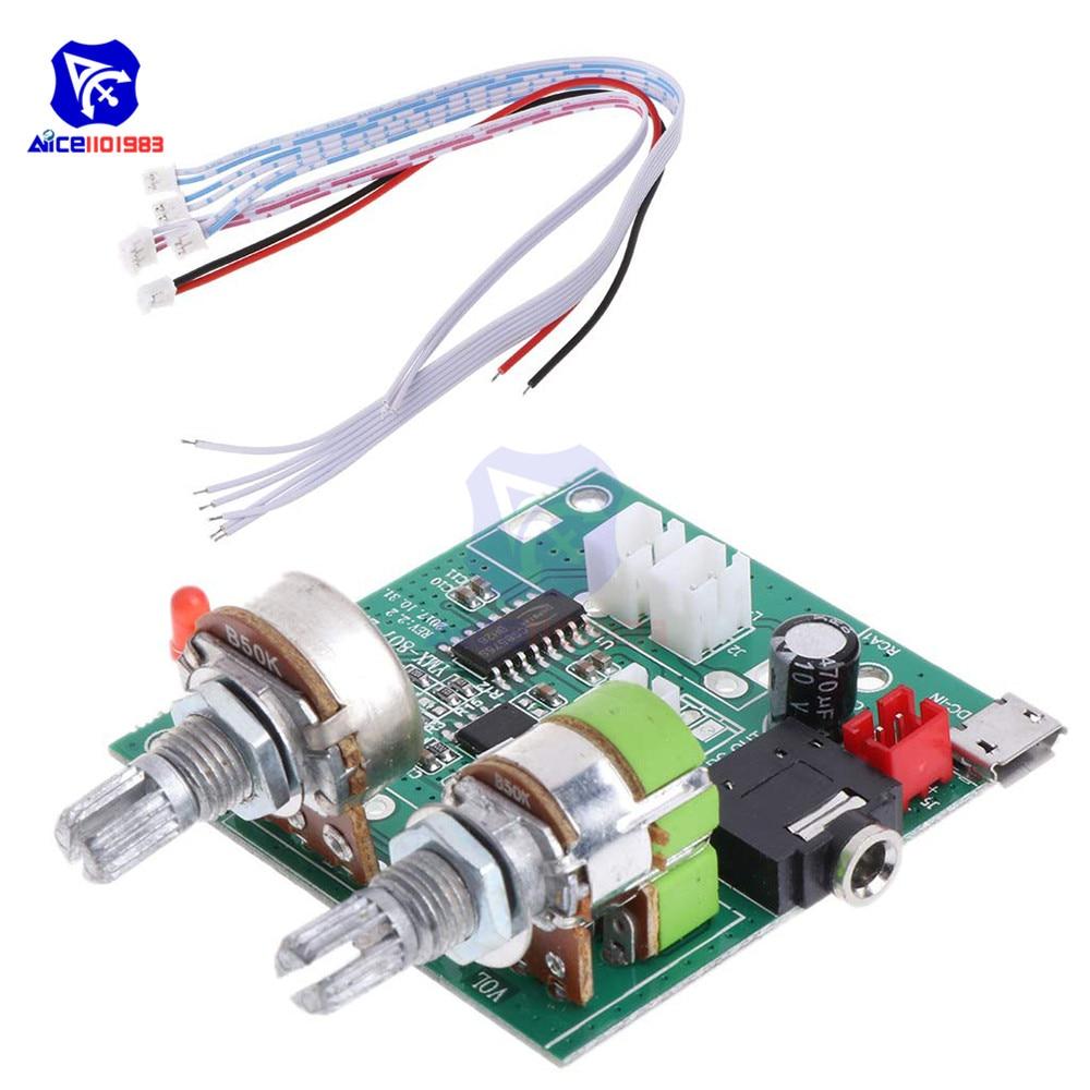 Diymore 5 в 20 Вт 2,1 канал 3D объемный цифровой стерео Класс D усилитель плата модуль для Arduino с проводами
