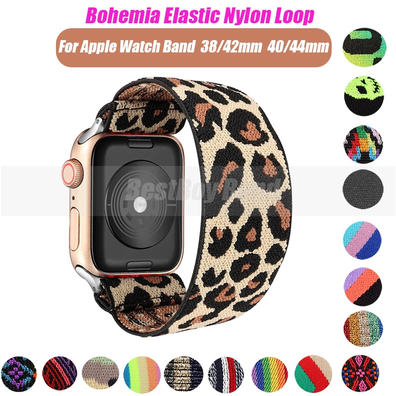 scrunchie elastic watch straps watch band for apple watch band series 6 se 5 4 3 2 1 38mm 40mm 42mm 44mm for iwatch ladies strap Elastic Watch Band for Apple Watch series 3 2 1 Band 38mm 42mm Casual Women Strap Bracelet for iwatch model 6 se 4 5 40mm 44mm