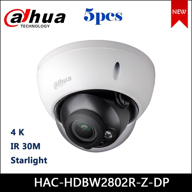 Dahua HAC-HDBW2802R-Z-DP 4K Starlight Domo infrarrojo HDCVI Cámara 3,7-11mm lente motorizada Audio en interfaz CCTV Cámara