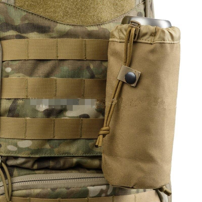 Sistema Militar Molle táctico botella de agua soporte hervidor bolsa ejército supervivencia al aire libre senderismo viaje cantina funda