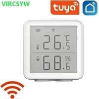 Tuya Smart WIFI detecteur de Temperature Et Dhumidite Avec ECRAN LED Fonctionne Avec Assistant A Domicile Alexa Et Vie intelligente