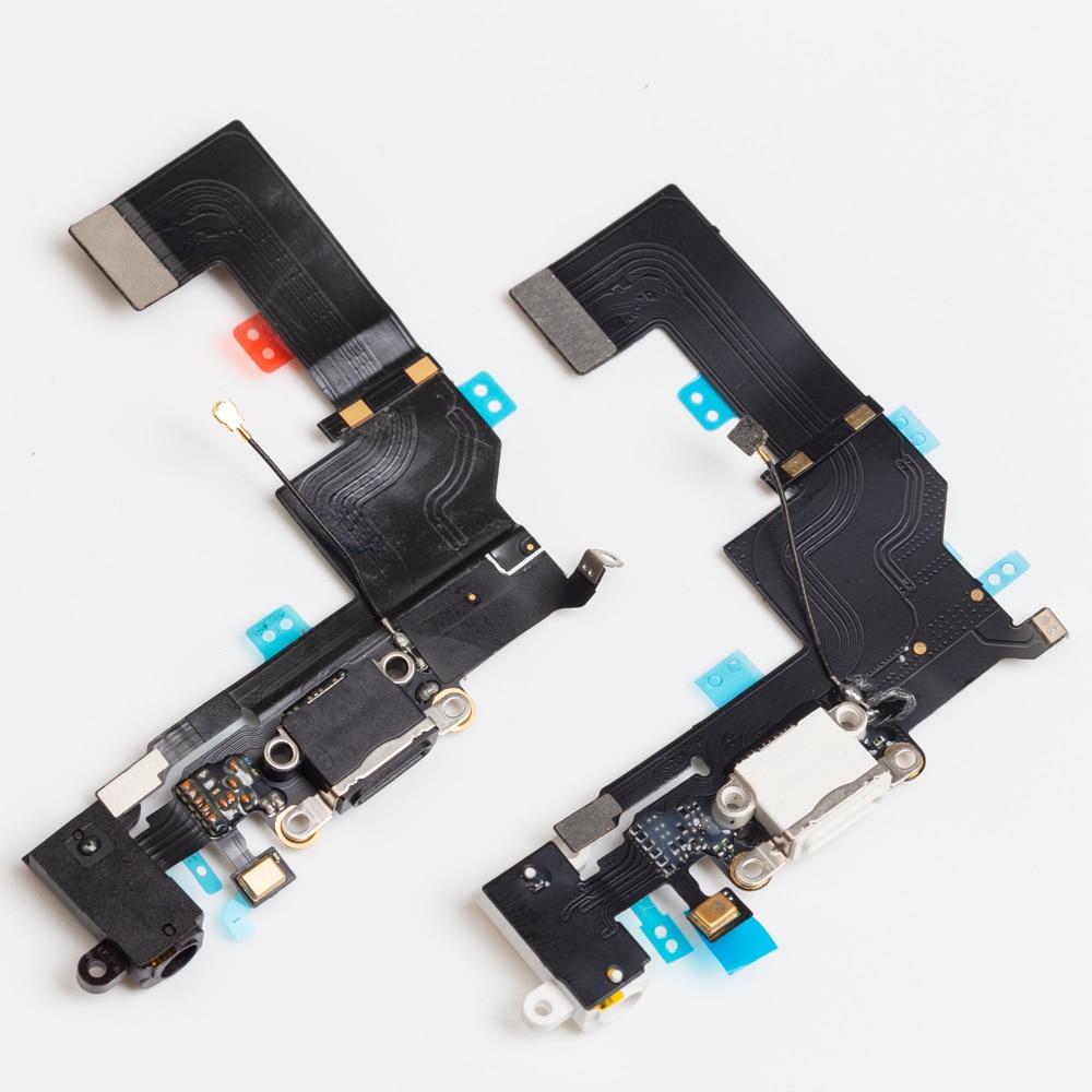 1 шт. новый для iphone SE USB зарядный порт док-станция разъем гибкий кабель микрофон наушники аудио разъем Запасная часть