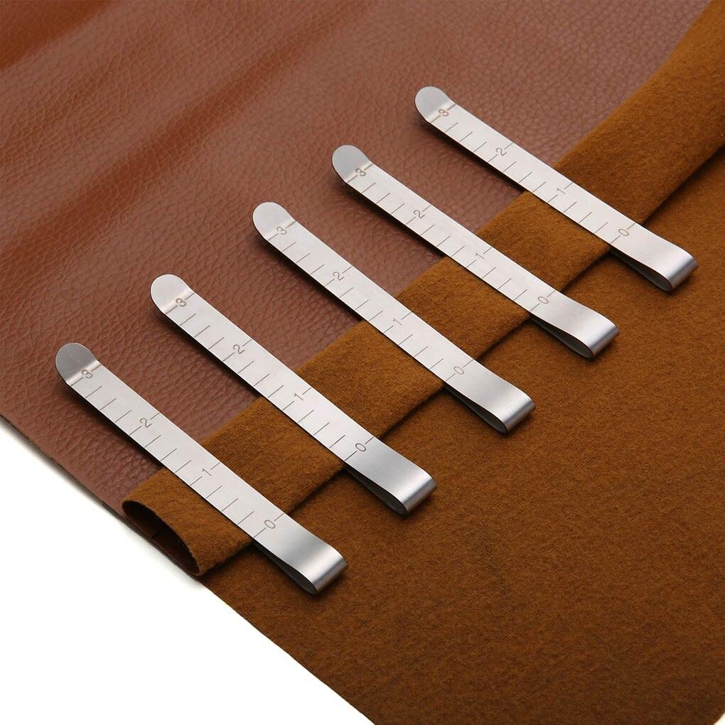 20 piezas, Regla de medición de 3 pulgadas, Clips para costura, abrazadera de encuadernación para colcha de acero inoxidable