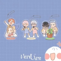 3 designs comic here u are acrylic stand yu yang li huan figure model plate holder key chain pendant fans gift