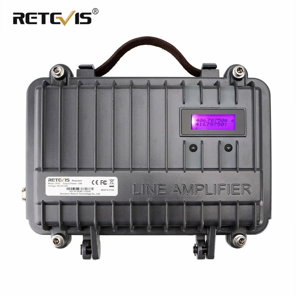 Customized Full Duplex Analog Portable Repeater Retevis RT97 10W Two Way Radio Repeater VHF or UHF Power Amplifier Power Divider