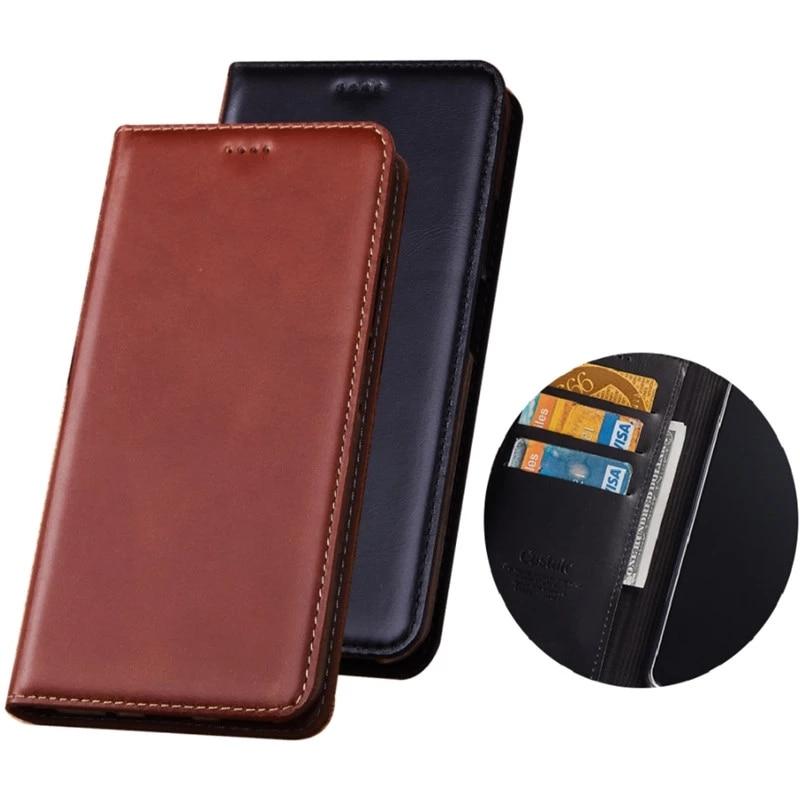 جراب هاتف خلوي من جلد البقر ، جراب محفظة أعمال لهاتف Motorola Moto G9 Plus/Moto G9 Play/Moto G9 ، حامل بطاقات قابل للطي