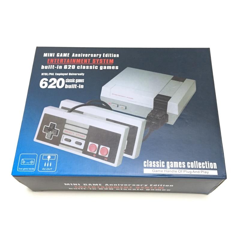Consola de videojuegos Retro de bits para y adultos, miniconsola con salida AV, juegos integrados enchufe de la