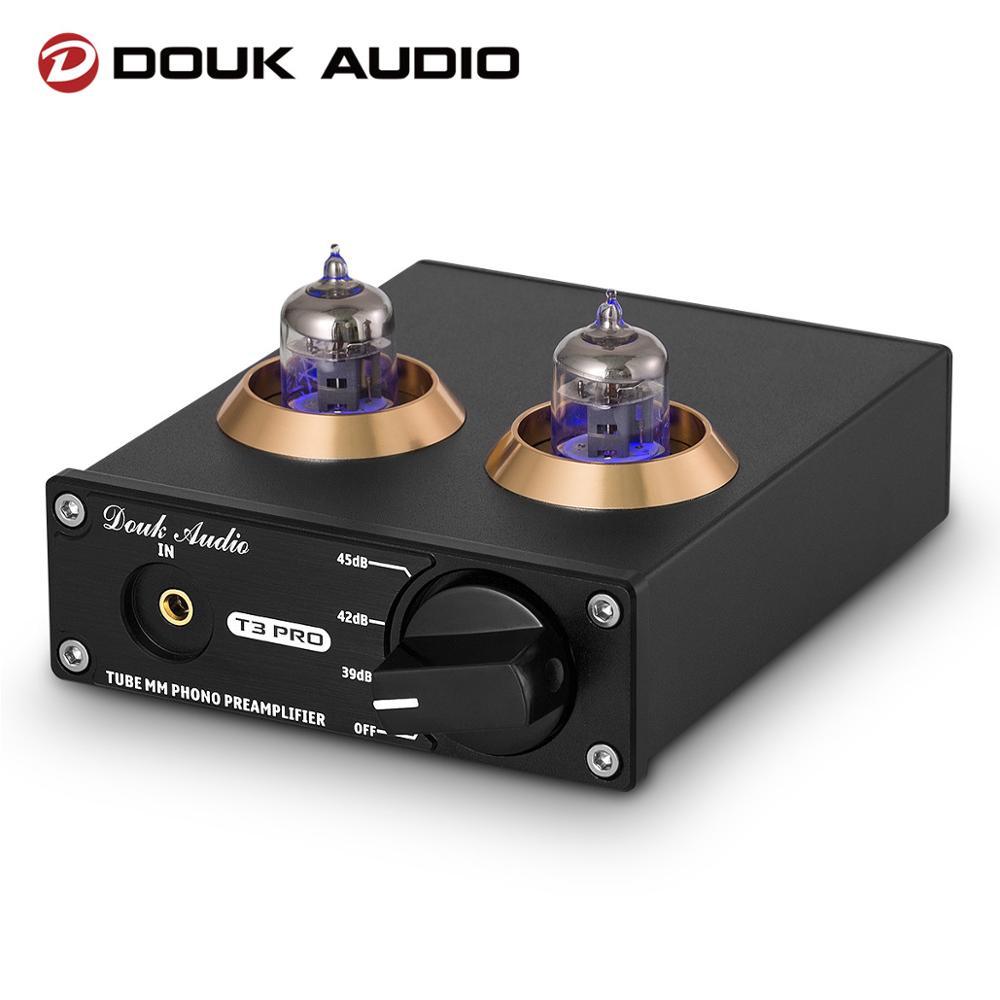 Douk Audio T3 PRO Mini MM RIAA Tube Phono giradischi preamplificatore Stereo preamplificatore amplificatore di livello di linea