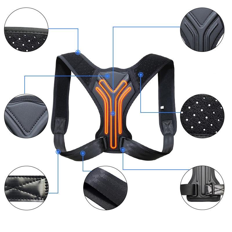 Back Posture Corrector Corset Clavicle Spine Posture Correction Back Support Belt Comfortable Soft S