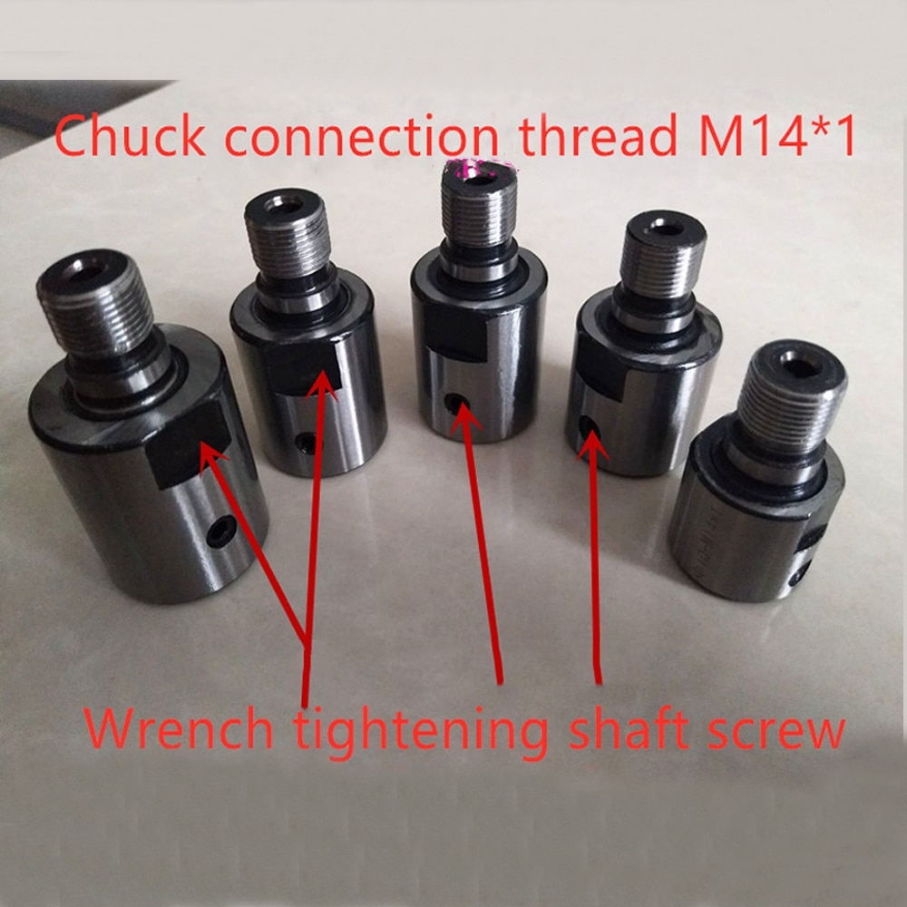 Varilla de conexión de 8mm, 10mm, 12mm, 14mm, 16mm, M14 * 1 adecuada K01-50/63 K02-50/63 Mini mandril de torno CNC, mini torno, piezas de Banco de mandril