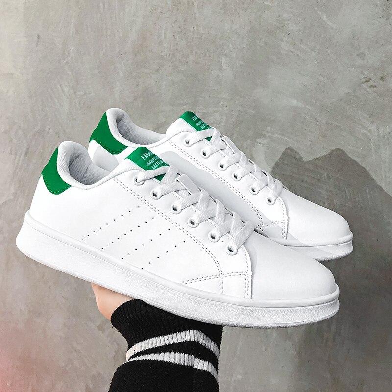 Damyuan مقاومة للاهتراء المطاط وحيد رجل الاحذية أحذية رياضية المنخفضة الأبيض الرجال عادية جديد الاصطناعي الجلود الأخضر أحذية رياضية
