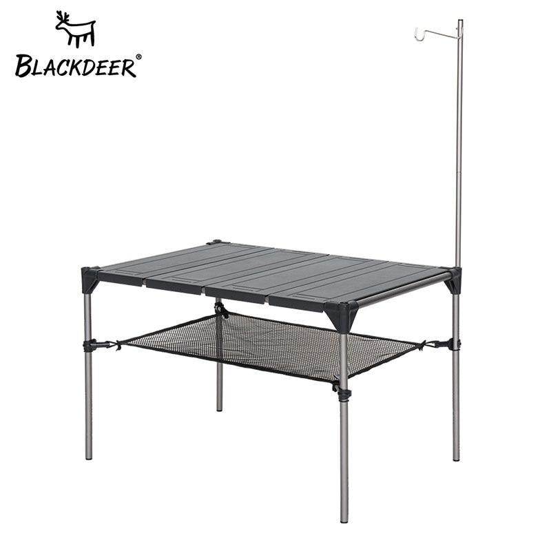 BLACKDEER-escritorio de acampada al aire libre, mesa plegable de aleación de aluminio,...