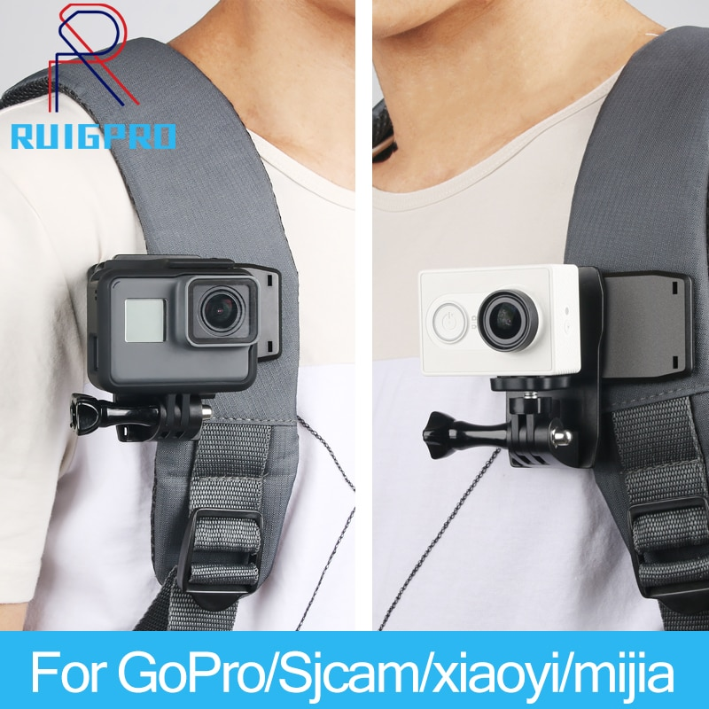 Rotate Backpack Clip Clamp Mount for GoPro Hero 9/8/7/6/5/4/3+3 Xiaomi Yi 4K Lite SJCAM SJ4000 H9/H9R Sports Camera Accessories 1pcs j hook buckle surface mount for yi sjcam sj4000 sj5000 sj7000 for gopro 7 6 5 4 3 action camera