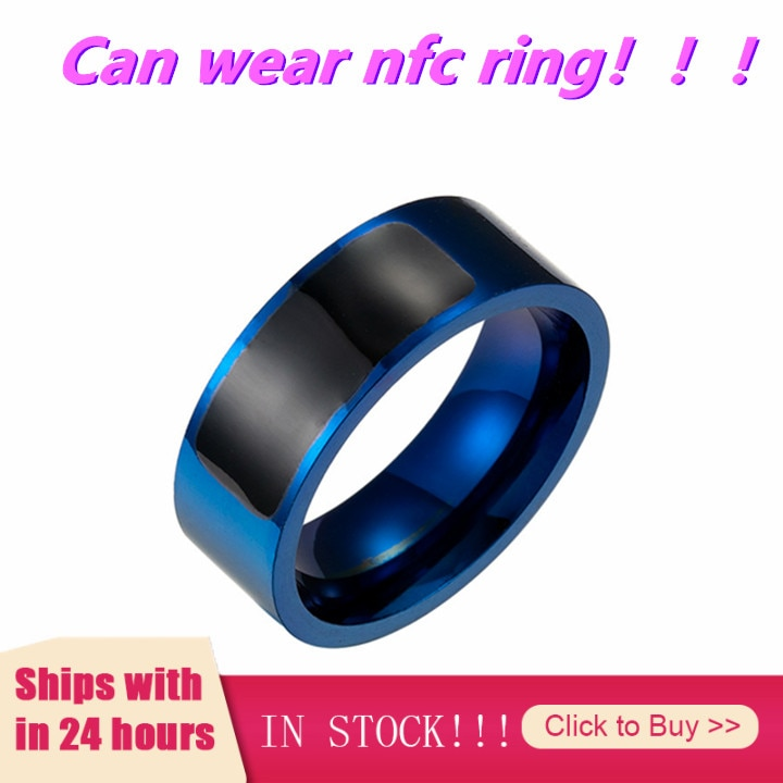 NFC Titanium Steel NFC Smart Ring Worn On The Finger Smart Wearable Device Accessory Smart Nfc Wearable Ring Wearable Devices