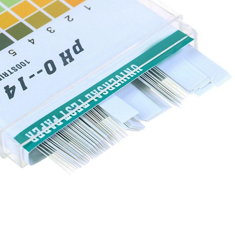 100Pcs 0-14 PH Test Strips Litmus Paper Universal Alkaline Acid Indicator Paper for Water Saliva Soil Aquariums PH Tester Strips