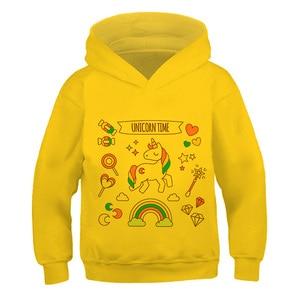 Haraju Cut unicorn printing pattern 3--14 Pullover Impostor Among Us New Hoodie Boys Girl Long Sleeve Sweatshirts kid Streetwear