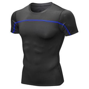 Men's reflective night running short sleeves Quick Dry Short Sleeve Sports Comfortable Finess Sport T-shir-ts Quick-drying Shirt