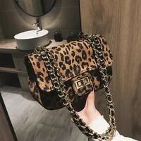 women handbag lock leopard small square bag women chain shoulder messenger bag luxury evening bag clutch cell phone bags