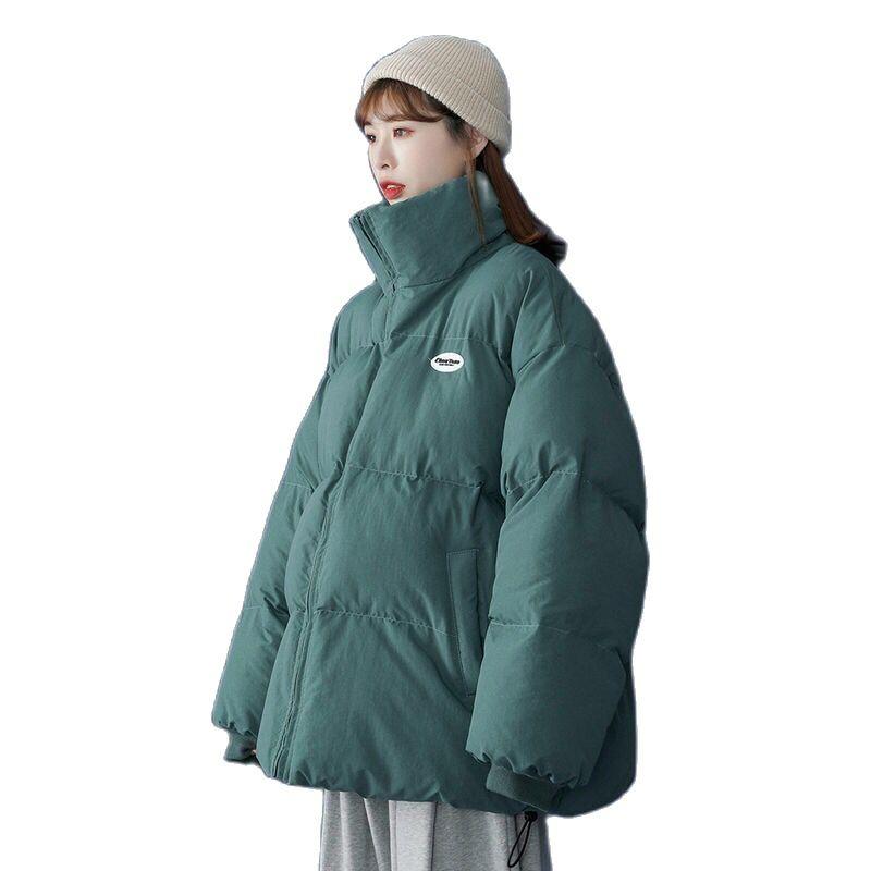 Женские зимние куртки-пуховики оверсайз, корейские свободные пальто с длинным рукавом, женские парки, модные теплые пальто и куртки для жен...