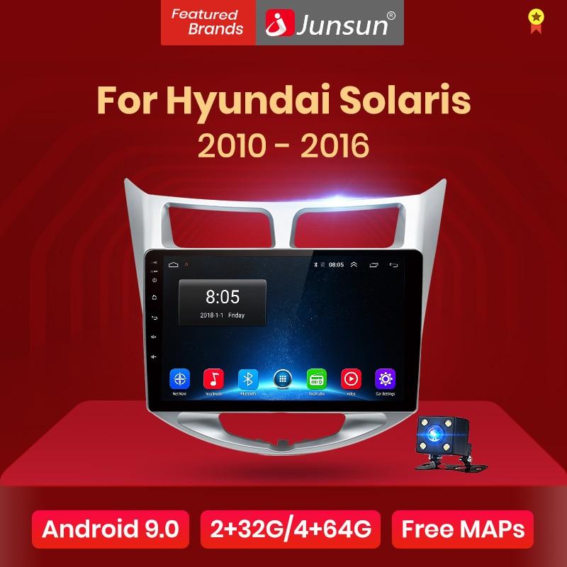 Junsun V1 2G + 32G Android 8,0 DSP para Solaris Hyundai 2010-2017 auto Radio Multimedia Video Player navegación GPS RDS 2 din dvd