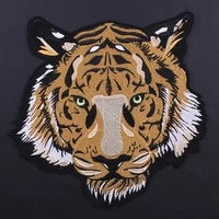 tiger animal embroidered iron on patch sewing patches diy clothes stickers applique for clothing garment accessories for jacket