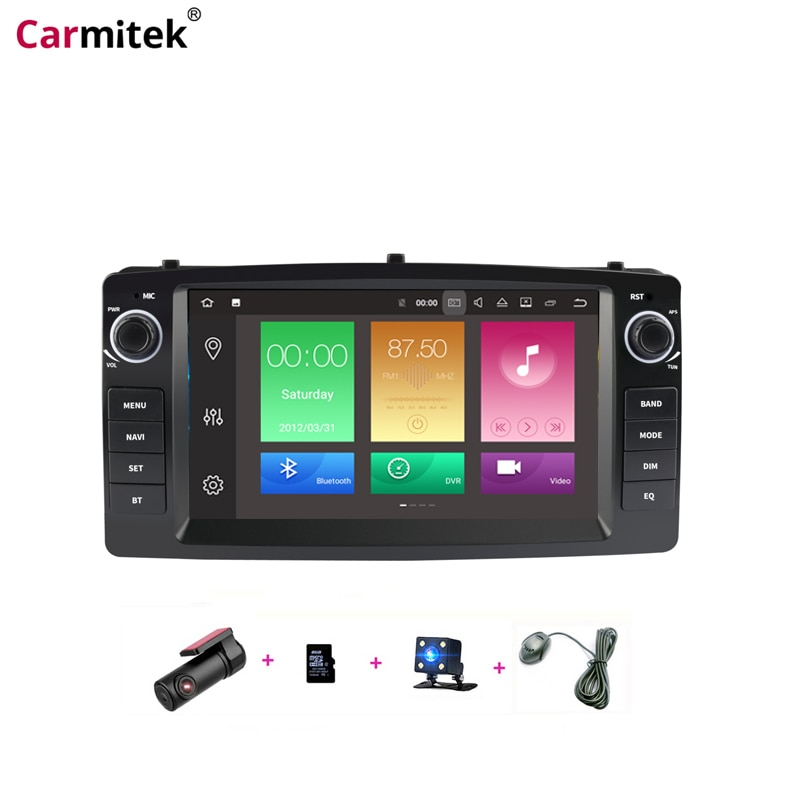 Auto zentral Multimedia GPS Navigation Kopf Einheit Radios Android für Toyota Altis Corolla E120 2000-2006 BYD F3 2 din DVD Player