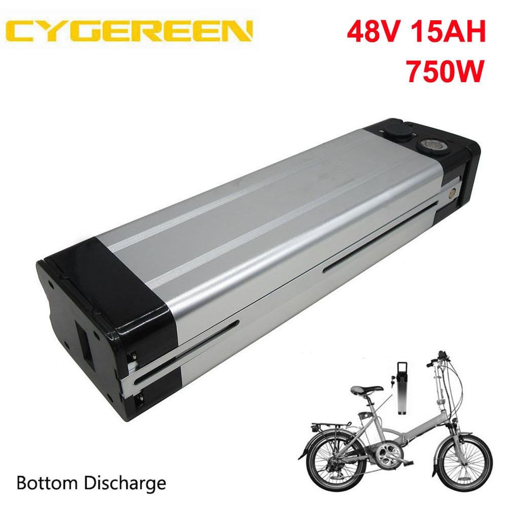 750W 48 V 15AH pescado de plata Ebike batería 48 V 8AH...