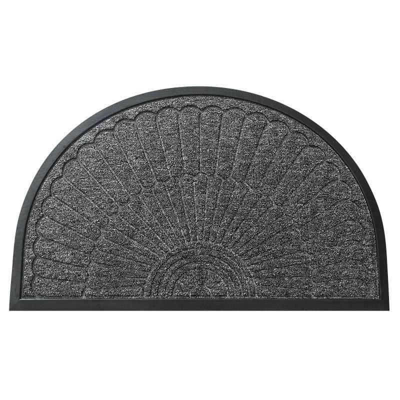 European style outdoor semicircular rubber floor mat Wear-resistant anti-skid rubber door mat waterproof Polypropylene carpet