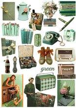 Autocollants vintage séries couleur, étiquette décorative pour livre, artisanat et Scrapbooking, papeterie pour bricolage