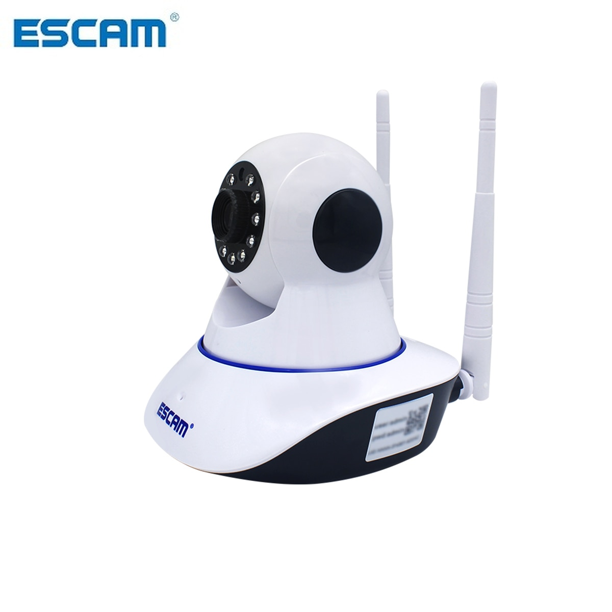 ESCAM-هوائي مزدوج G01 HD 1080P 200W ، مع وظيفة التحريك/الإمالة ، WiFi ، الأشعة تحت الحمراء ، كاميرا IP لاسلكية ، متوافقة مع ONVIF ، رؤية ليلية للتحدث ثنائية ال...