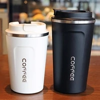 380510ml 304 stainless steel coffee thermos mug portable car vacuum flasks outdoor portable car tumbler cup with lid