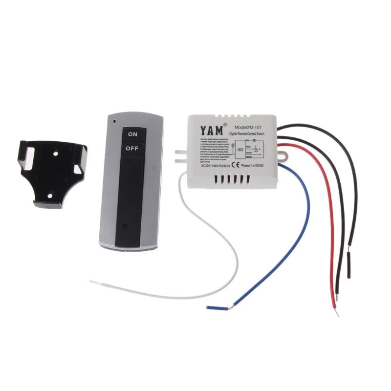 Livraison directe sans fil 1 canal   Lampe ON/OFF, interrupteur de télécommande, émetteur récepteur
