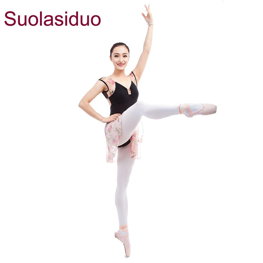 Girls Black Ballet Dress Stage Performance Leotards Gymnastics Sleeveless Leotard Dancewear Competition Dance Skirt for