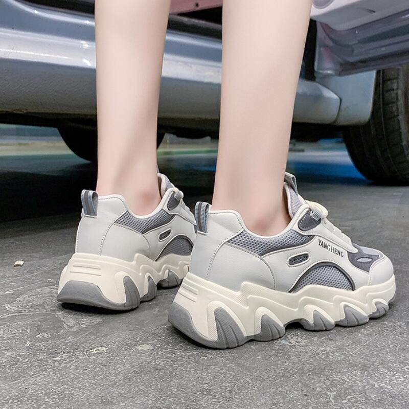 Vulcanized Shoes Fashion Comfortable Sneakers Female Fitness Trainers Walking Shoes Outdoor Non-slip
