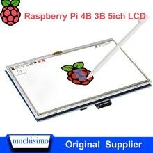5 pouces Raspberry Pi 4 modèle BLCD écran tactile LCD 800 × 480 HDMI TFT moniteur + étui support pour Raspberry Pi 4B 3B +