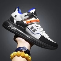 spring outdoor new mens sneakers 2021 light casual shoes for men breathable leather shoes tenis masculino zapatos hombre
