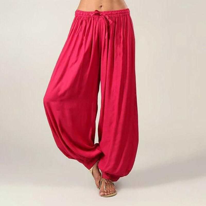 Us men feminino algodão ali baba harem calças compridas afghani baggy hippie