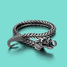 Männer Thai silber 925 silber armband Ethnische drachen design Solide silber armband charme armbänder 5mm20cm kette geburtstag präsentieren