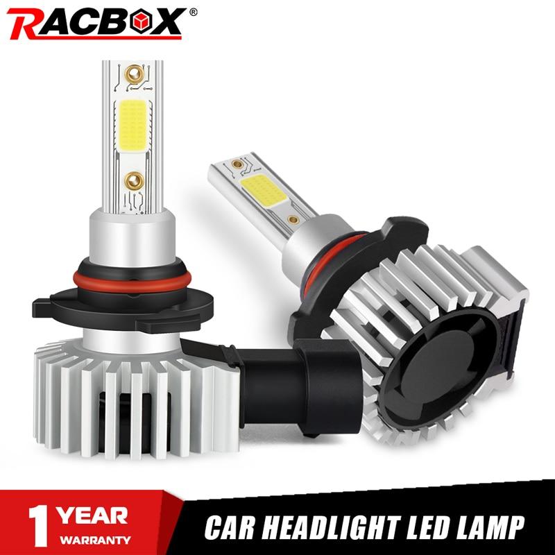 Racbox Автомобильная фара лампа светодиодный H7 H1 H3 H4 H11 H8 H27 880 Авто турбо супер мини лампа Refit 3000K 6000K 10000K HB4 HB3 9005 9006