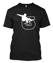 Camiseta de Snowboards.-camiseta negra para hombre tamaño Unisex S-3XL