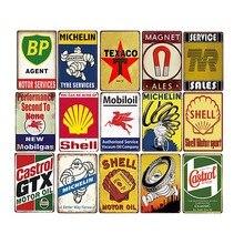Plaque dhuile moteur Vintage   Signes métalliques en étain pour Garage, Station de gaz, décoration de Service de pneus, affiche artistique murale rétro 20x30cm