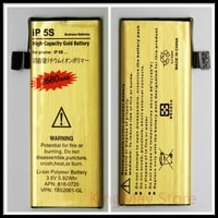 brand new original do dower for bateria iphone5s battery iphone 5s zero cycle high capacity golden battery for iphone 5s battery