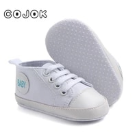 cojok boys and girls baby shoes solid sneakers cotton soft non slip sole newborn baby walker toddler casual canvas crib shoes