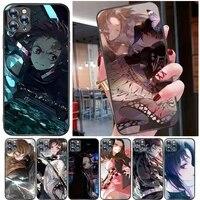 demon slayer kimetsu no yaiba kamado tanjirou agatsuma zenitsu kamado nezuko phone case for iphone 11 pro max back cover coque