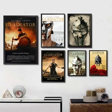 Affiches de gladiateur film blanc papier couché imprime haute définition Image claire décoration de la maison salon chambre barre