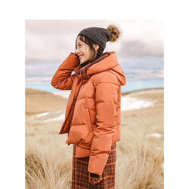 Vogue of new fund of 2020, invierno, chaqueta con capucha de relleno con capucha, abrigo de ocio para mujer, abrigo corto de pan