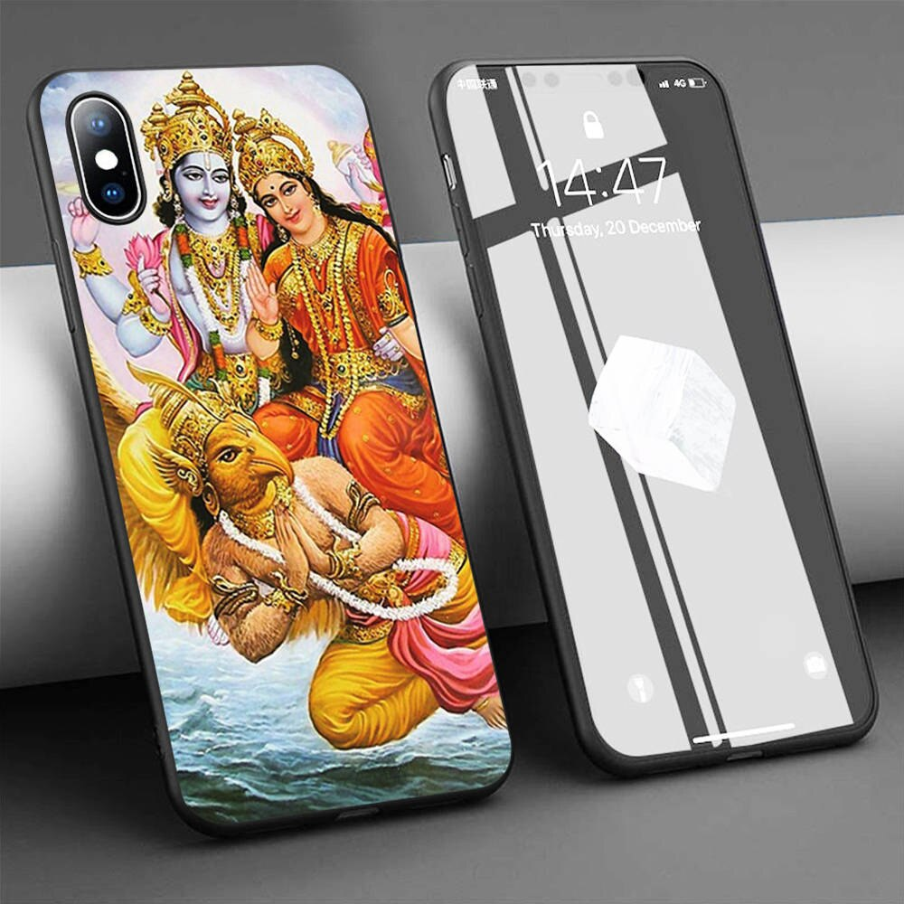 Coque vishnu lakshmi suave de la caja del teléfono de silicona para iPhone 11 Pro Max X 5S 6 6S XR XS Max 7 8 Plus caso de la cubierta del teléfono