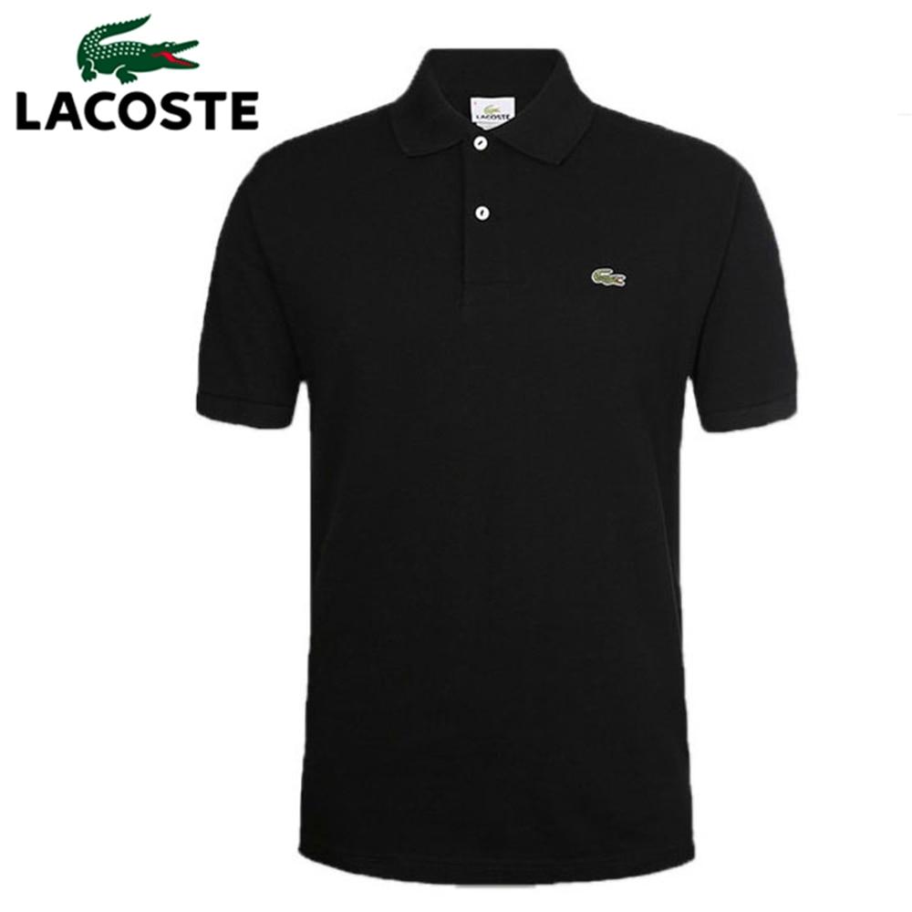 Lacoste- 2020 nueva ropa Polo tejido para hombre Pantalón corto con contraste de Color manga cuello vuelto Top transpirable de talla grande deportivo para hombre