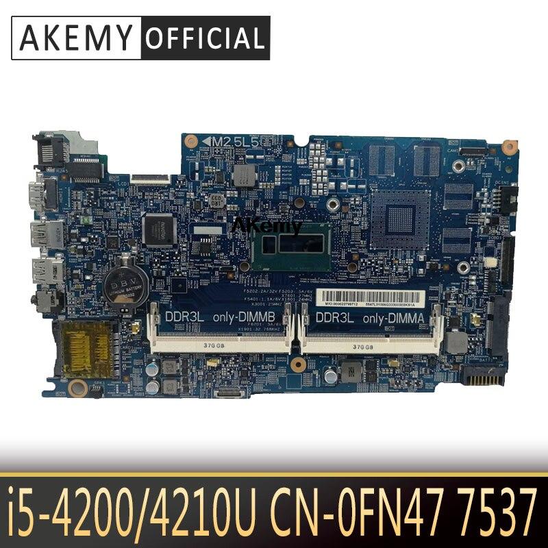 Akemy 12311-1 I5-4200/4210U para DELL INSPIRON 7537 15 15R 7537 placa base portátil KJ7NX 0K58JN K58JN PWB KWC14