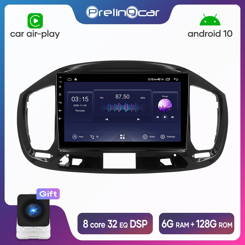 Prelingcar Android 10.0 For Fiat UNO 2015 16 17 18 2019 Car Radio Multimedia Video Player GPS Naviga